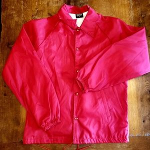NWOT Vintage cherry red windbreaker awesome